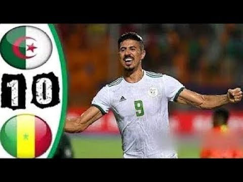 ملخص كامل مباراة الجزائر والسنغال 1-0 مباراه