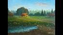 Картина маслом Художник Вреж Киракосян Вечер в деревне
