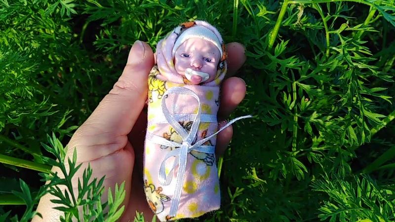 Мини реборн лялечка ООАК из полимерной глины...В НАЛИЧИИ....