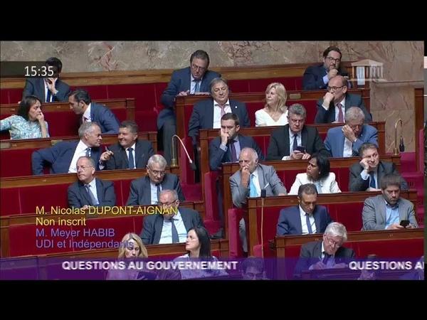 Question de Nicolas Dupont-Aignan au Gouvernement concernant General Electric