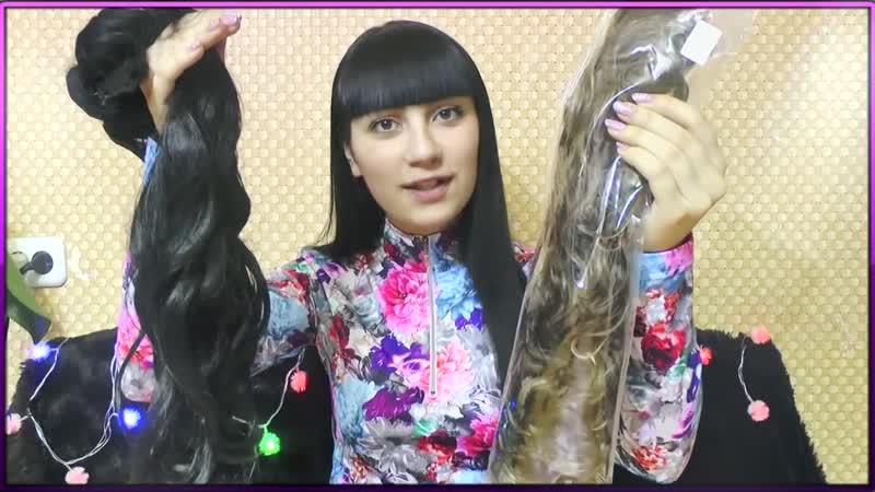 Как крепить волосы на заколках Накладные пряди