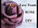 Foam rose diy. Glitter Foam Sheet craft ides. DIY ROSE. Easy Rose diy. Como Hacer Rosas Flores