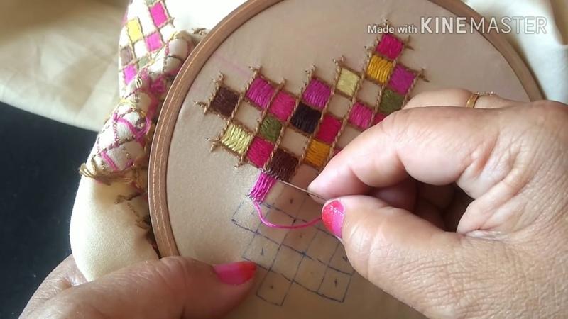 195-Very easy geometric motifs on your kurti/cushions/bedsheets(Hindi/Urdu)