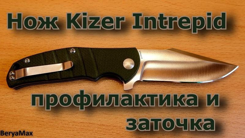 Александр Березовский. Профилактика и заточка ножа Kizer Intrepid.