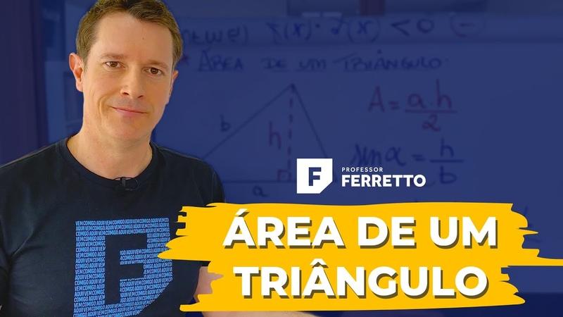 ➡️Como calcular a área de um triângulo