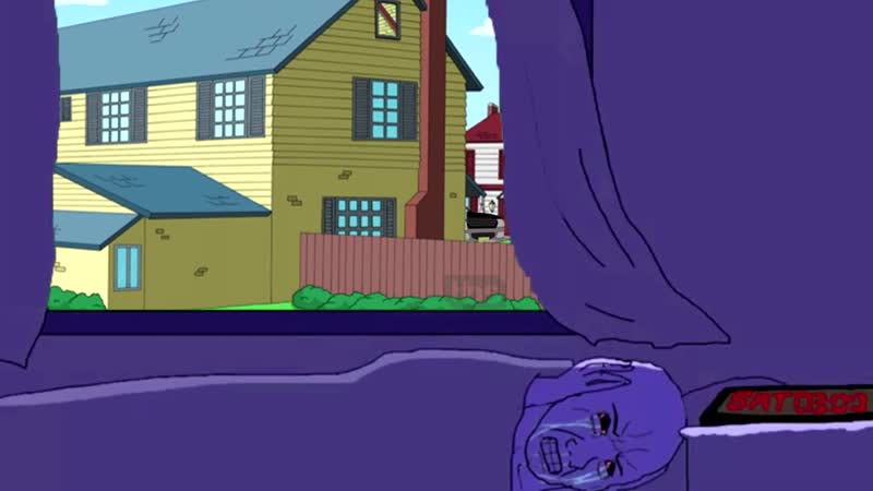 American Dad Opening, but its the neighbors perspective