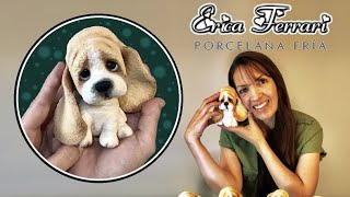 🐶 Erica Ferrari Porcelana Fría Cachorro Batata Orejas Clase Gratis DIY Tutorial Fácil