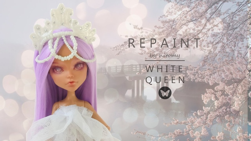 🌿 hitomy ito 🌿 OOAK Repaint white Queen