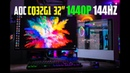 AOC CQ32G1 Gaming Monitor Review 32 1440p 144hz Curved