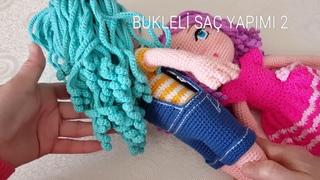 Вязаный паричок для куклы - ч.2