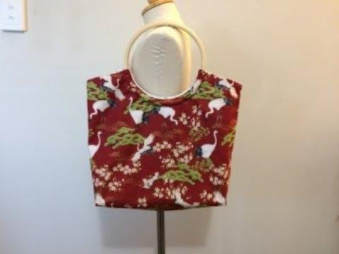 DIY Bag Ring Handle Bag Handmade bag Coudre un sac Bolsa de bricolaje 가방 バッグ Tutorial