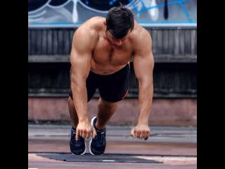 Тренироа на грудь и трицепс со своим весом