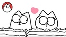 Head Over Heels (A Valentines Special) - Simon's Cat   BLACK WHITE