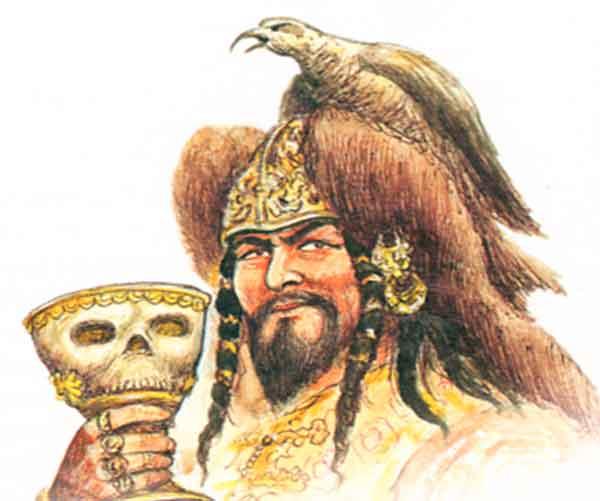 Монгол и чаша