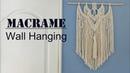 DIY Macrame Wall Hanging / 마크라메 월행잉 - 9