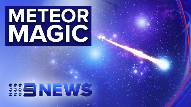 Fireball lights up the night sky above southern states | Nine News Australia