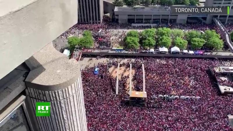 Toronto panique lors de la célébration du titre des Raptors après des coups de feu