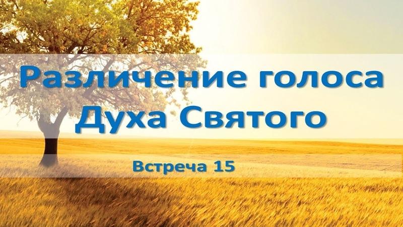 Различение голоса Духа Святого (встреча 15) обновленный