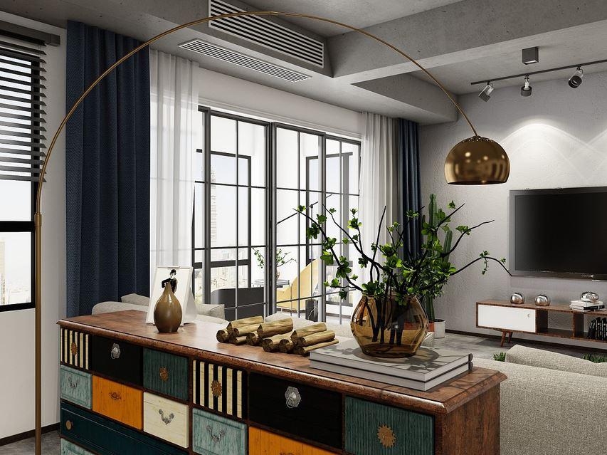 Современный интерьер, минимум мебели