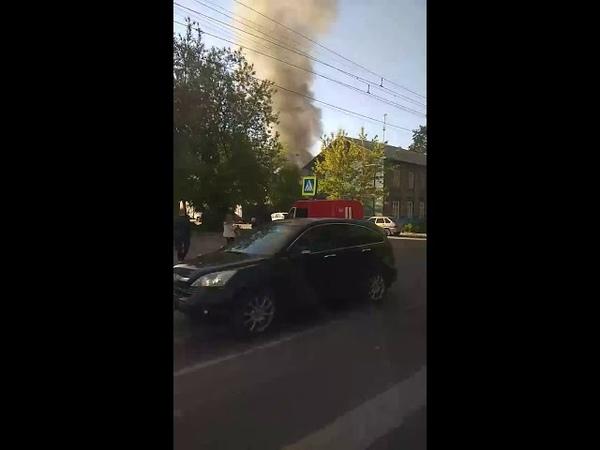 Пожар Кострома ул.Ленина 20.05.2019