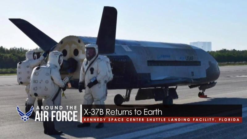 USAF X-37B Space Plane Landing Footage and SAPR