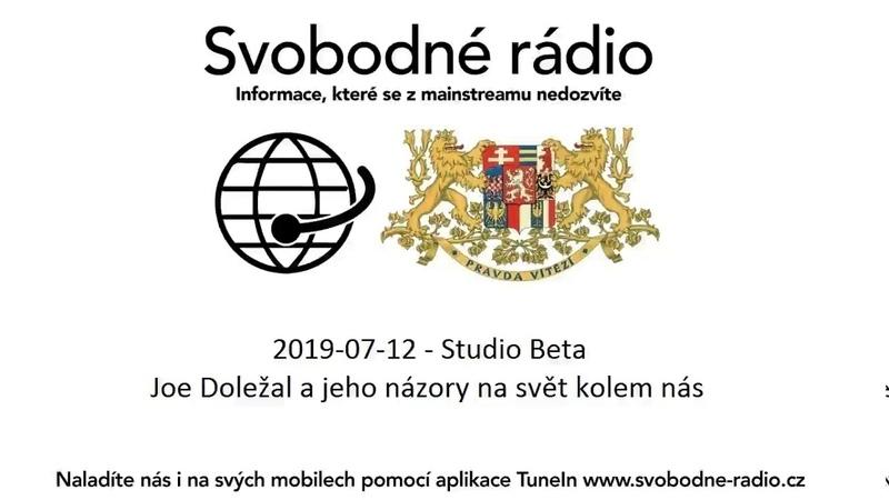 2019-07-12 - Studio Beta - Joe Doležal a jeho názory na svět kolem nás