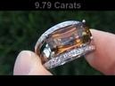 RARE Certified Bi Color Tourmaline Diamond Ring Solid 18K White Gold