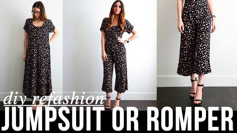 DIY very EASY dress to jumpsuit or romper refashion