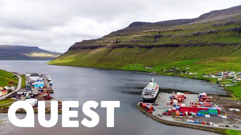Cargo Ferry's Journey Through The Beautiful Faroe Islands To Iceland | Mighty Ships
