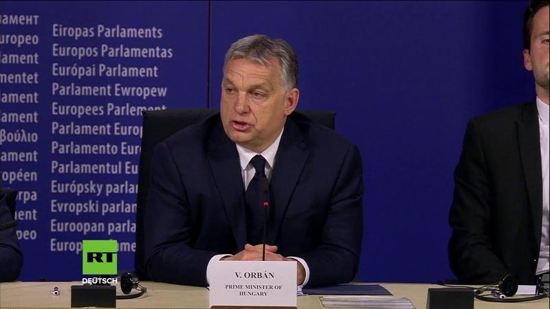 Orban zu EVP-Ausschluss Wir wollten nur über George Soros Pläne zur Machtuntergrabung informieren