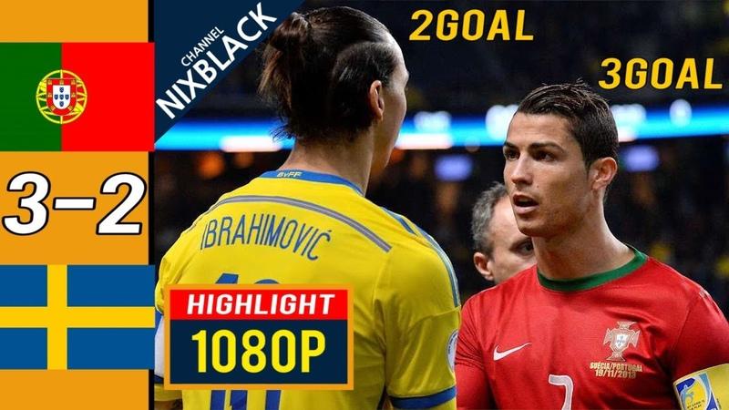 Ronaldo 3goals Zlatan 2goals Portugal 3-2 Sweden FWC Play-Off 2013