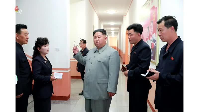 경애하는 최고령도자 김정은동지께서 배움의 천리길학생소년궁전을 현지지도하시였다
