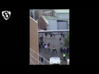 Hooligans fight _ hif vs dif ( hammarby if v kalmar ff 07.08.2016 )