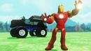 Мультики про Машинки Монстр Трак Полицейская Машина Джип Железный Человек Гонки Мультики для Детей