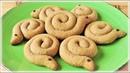 Рецепт кофейного песочного печенья Улитки