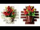 How to make a newspaper wall hanging with flower pot