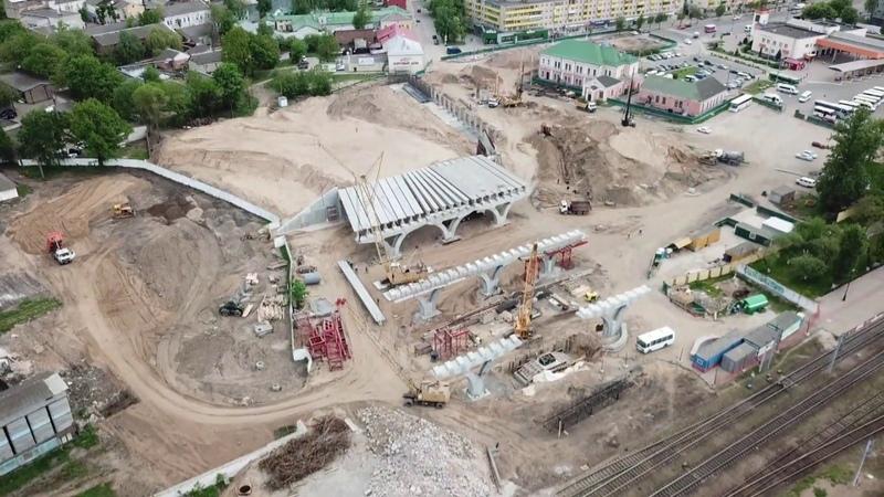 Строительство моста через железнодорожные пути в Витебске, полоцкий путепровод