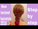 New twisted hairstyle for Wedding or party | easy hairstyles | new hairstyles | hairstyles