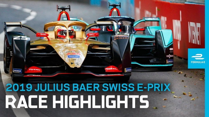 2019 Julius Baer Swiss E-Prix   Race Highlights   A Tense Fight To The Finish