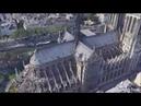 Собор Парижской Богоматери Notre Dame de Paris. Вид сверху с помощью дрона геликоптера до пожара. Notre Dame de Paris on Fire 4K UHD | Drone around the roof | 3D Model | 3D Animation