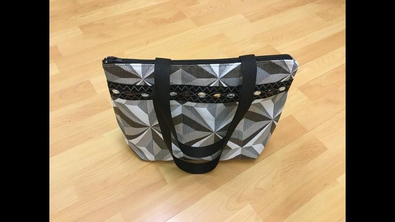 Coudre un petit sac à main avec angles arrondis - Tuto Couture Madalena ( Sew a small handbag )