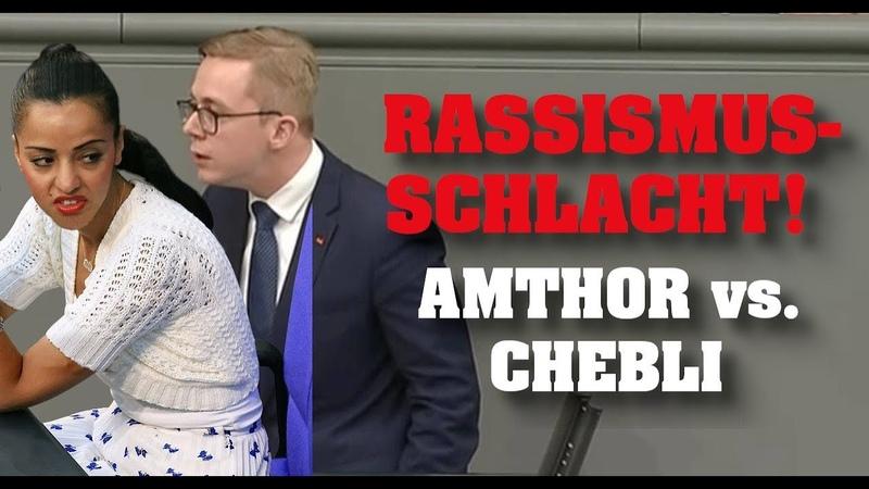 ESKALATION! Rassismus-Schlacht! Amthor vs. Chebli!