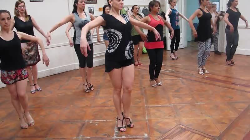 Танго Нуэво Paula Franciotti, Técnica Mujer en Tango (cadencia, Musicalidad y Adornos) I