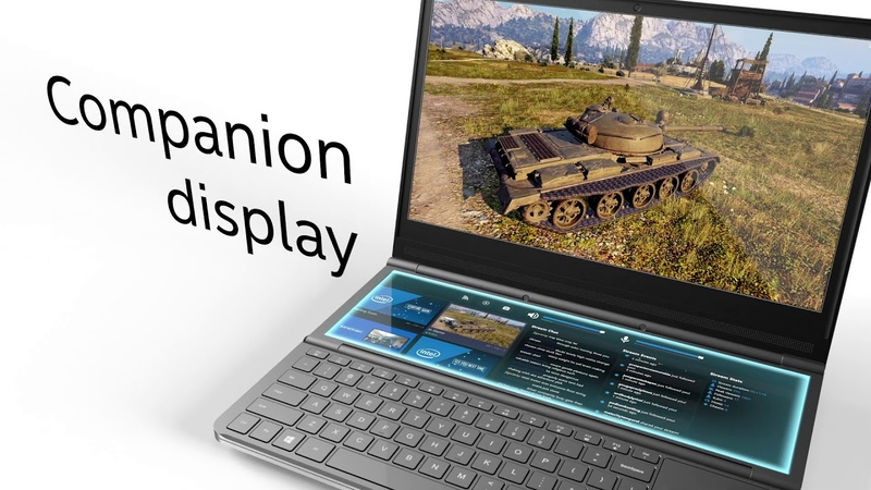 COMPUTEX 2019 Intel's 'Honeycomb Glacier' Companion Display Concept Laptop
