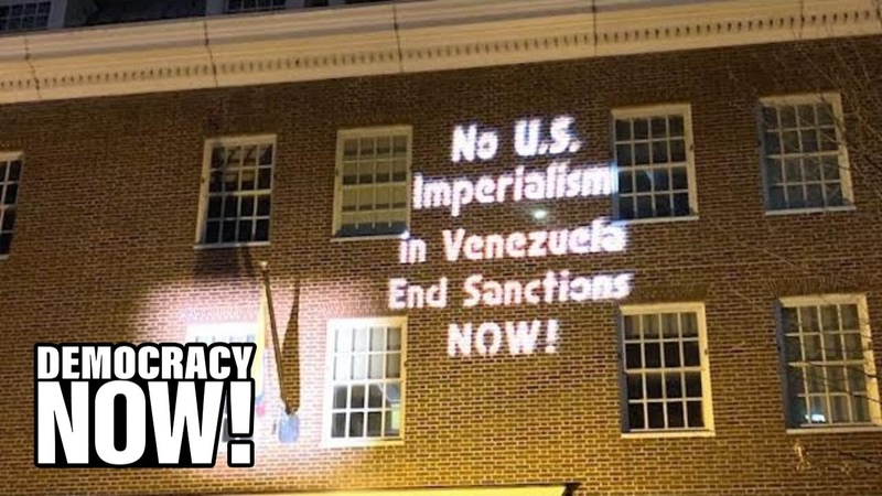 Despite Threats No Electricity, Anti-Coup Activists Remain inside Venezuelan Embassy in D.C.