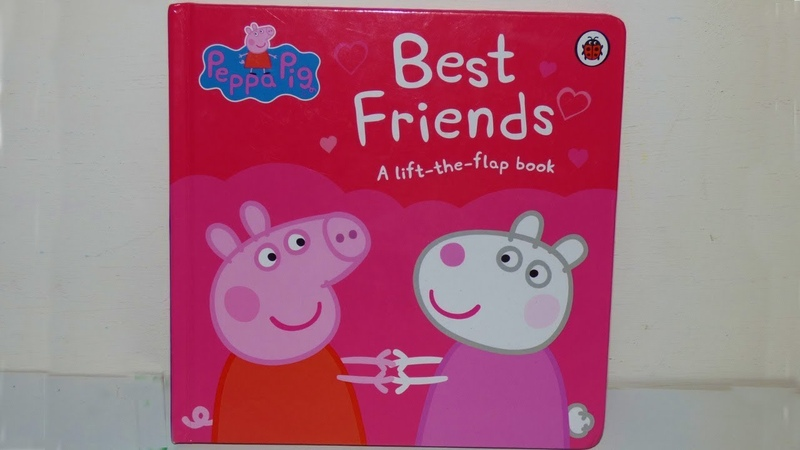 Peppa pig best friends board book.Lift the flap story book review video