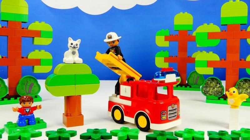 Lego Duplo 10901 Fire Truck Лего Дупло 10901 Пожарная машина Строим из Lego Duplo