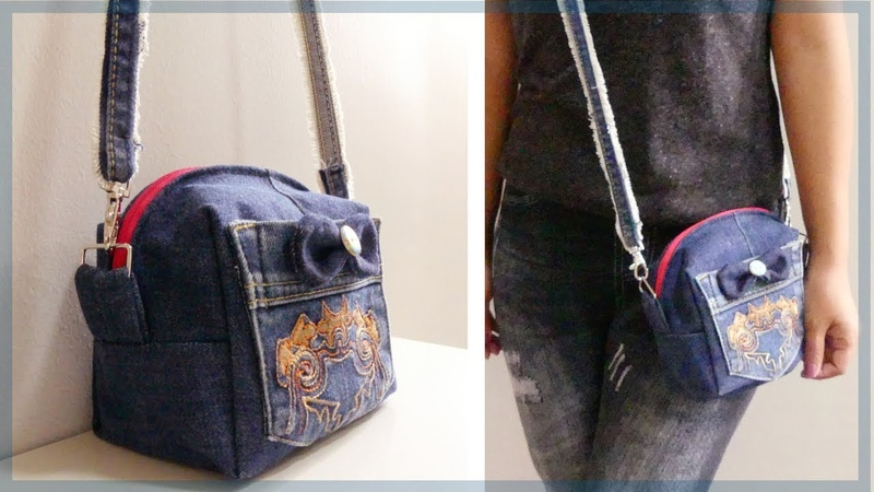DIY Mini Crossbody Bag from Old Jeans
