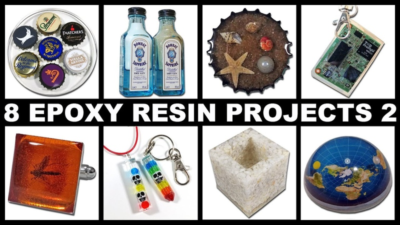 8 Easy Epoxy Resin Projects 2 | Keychains | Cuff Links | Paperweight | Magnets | Coaster | Pendant