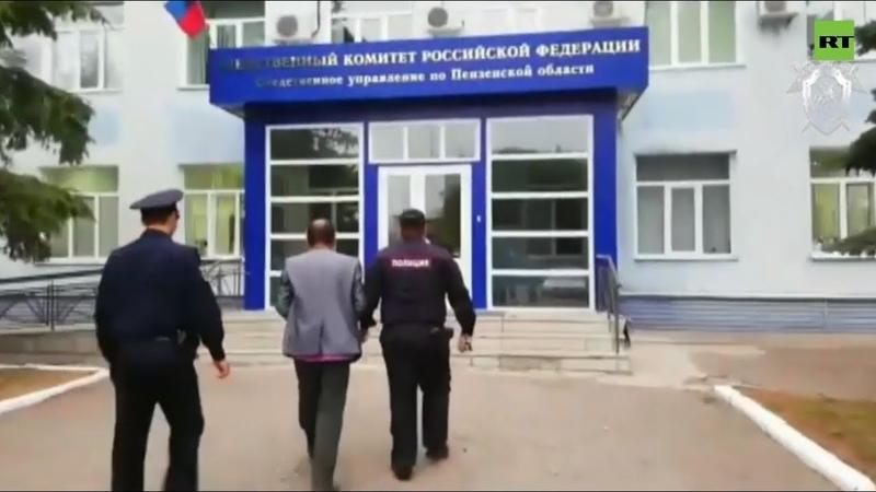 Видео задержания трёх участников конфликта в селе Чемодановка Пензенской области